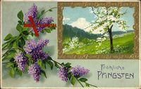 Glückwunsch Pfingsten, Baumblüte, Frühling