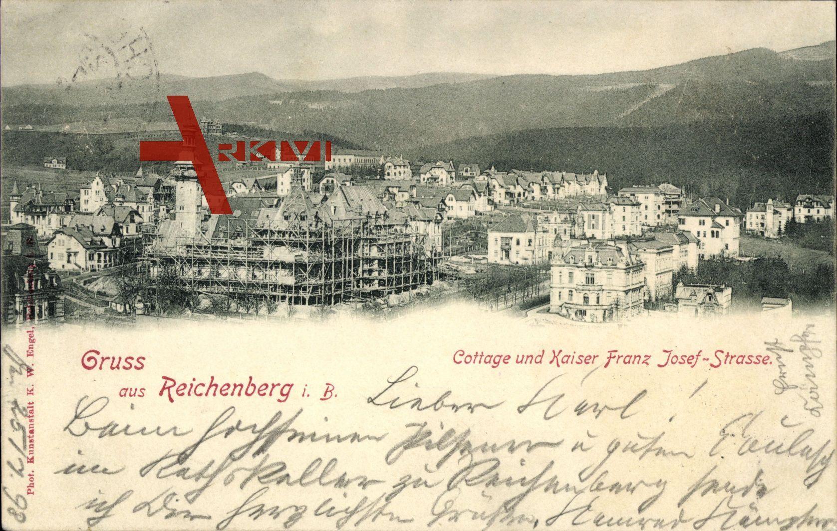 Liberec Reichenberg Stadt, Cottage und Kaiser Franz Josef Straße