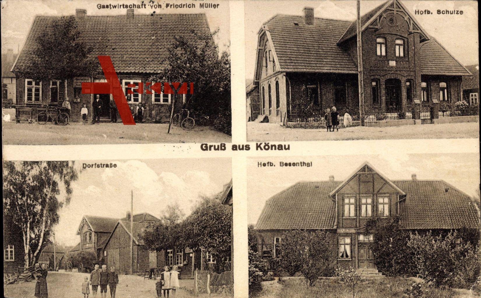Könau Wieren Wrestedt, Gastwirtschaft v. Friedrich Müller, Hofb. Schulze