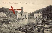 Val Jura, Zerstörtes Sägewerk, Westl. Kriegsschauplatz