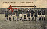 Essen, Spielverein Essen West, 1. Mannschaft Saison 1912 - 13, Fußball