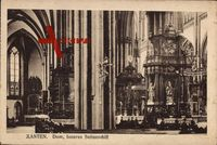 Xanten am Niederrhein, Innenansicht des Doms, das Seitenschiff
