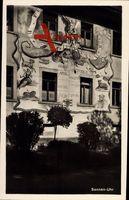 St. Blasien bad. Schwarzwald, Blick auf Sonnen Uhr auf der Häuserwand
