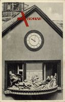 Hameln a.d. Weser, Rattenfänger Kunstuhr mit Glockenspiel am Rathaus