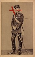 Generalfeldmarschall Paul von Hindenburg, Leutnant um 1870, Säbel, Uniform