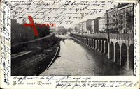 Berlin Wedding, Die überschwemmte Bahn im Humboldthain beim Wolkenbruch 1902