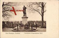 Pont Faverger Marne, Friedhof, Französisches Kriegerdenkmal 1870