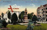 Berlin Weißensee, Anton Platz mit Kaiser Wilhelm I. Denkmal