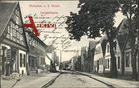 Stolzenau a.d. Weser, Blick in die leere Langestraße, Geschäft