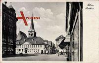Uelzen in Niedersachsen, Straßenansicht, Rathaus