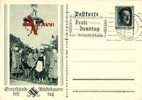 Ganzsachen Erntedankfest, Reichsbauerntag, 1937, Maibaum