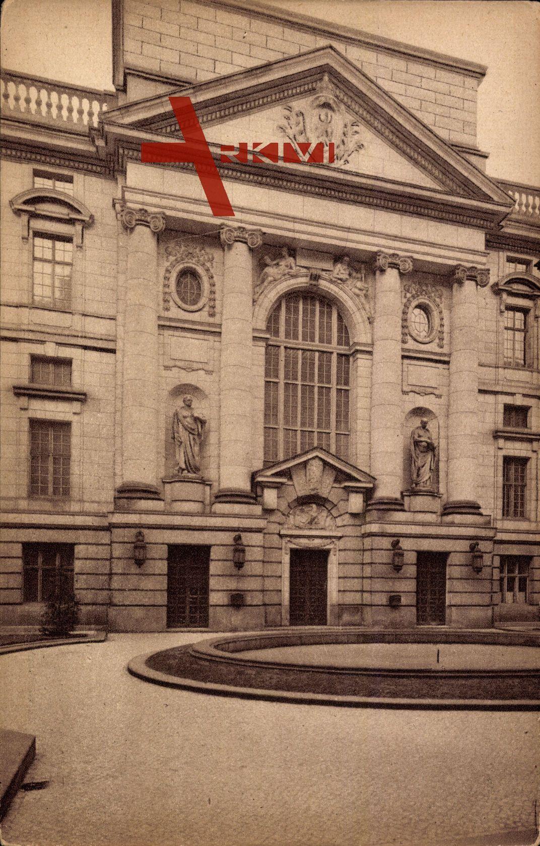 Berlin Mitte, Außenansicht der Bibliothek, Front zum Ehrenhof