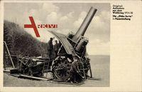 Die Dicke Bertha in Feuerstellung, Erster Weltkrieg, Artillerie