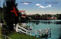 Berlin Pankow Weißensee, Blick auf die Badeanstalt