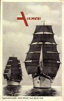 Segelschulschiffe Horst Wessel und Gorch Fock, Kriegsmarine