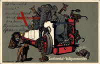 Continental Vollgummireifen, Elefant, LKW, Giraffen, Reklame