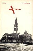 Berlin Neukölln Britz, Blick auf die St. Eduardkirche