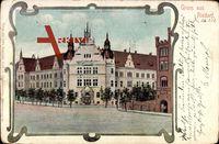 Berlin Neukölln Rixdorf, das neue Amtsgericht an der Berlinerstraße