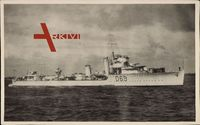 Australisches Kriegsschiff ES Vendetta D 69 auf hoher See