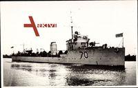 Australisches Kriegsschiff Warrego 70 läuft aus dem Hafen aus