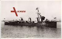 Australisches Kriegsschiff Huon 50 in Küstennähe