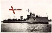 Australisches Kriegsschiff Parramatta 55 bei voller Fahrt