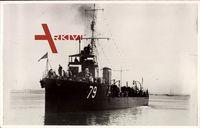 Australisches Kriegsschiff Yarra 79 bei voller Fahrt