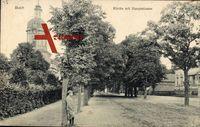 Berlin Pankow Buch, Partie an der Kirche mit Hauptstraße