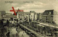 Berlin Steglitz, Blick auf den Lauenburger Platz, Allee
