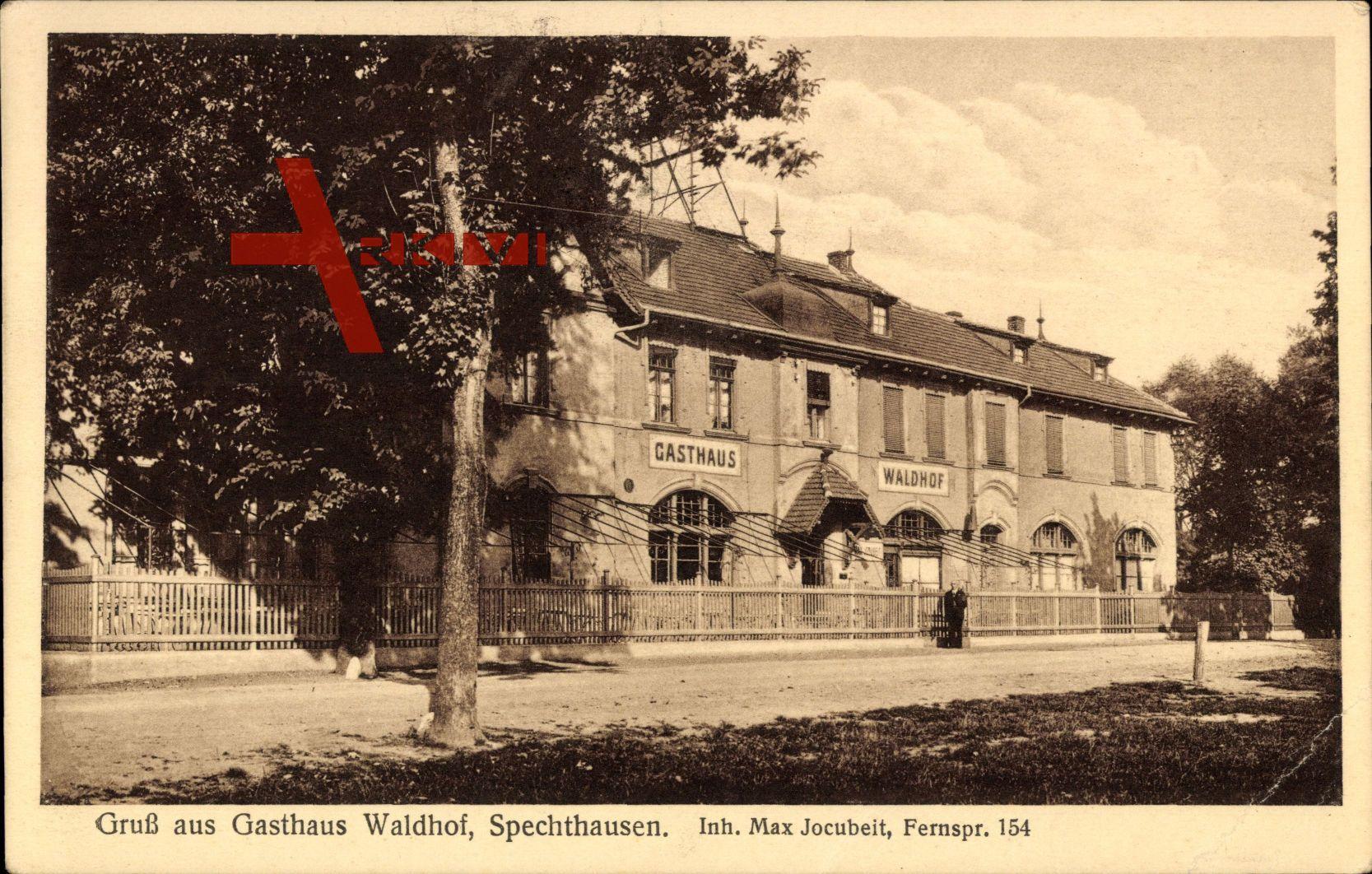 Spechtshausen Eberswalde, Blick auf das Gasthaus Waldhof Max Jocubeit