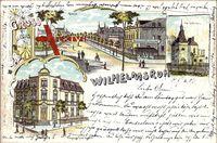 Berlin Pankow Wilhelmsruh, Straßenansicht, Restaurant Paulinenhof