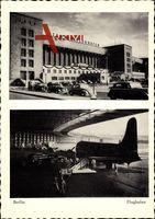 Berlin, Blick auf den Flughafen Tempelhof, Zentralflughafen, Flugzeuge