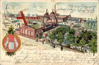 Berlin Neukölln Hasenheide, F. Happoldts Brauerei, Wappen