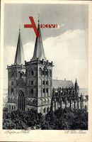 Xanten Rhein, Blick auf den St. Victor Dom, Vegetation