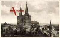 Xanten am Rhein, Blick auf den St. Viktor Dom und Umgebung