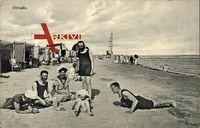 Grado Friuli Venezoa Giulia, Badegäste am Strand