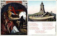 Bad Frankenhausen im Kyffhäuserkreis, Barbarossadenkmal, Barbarossa Gedicht
