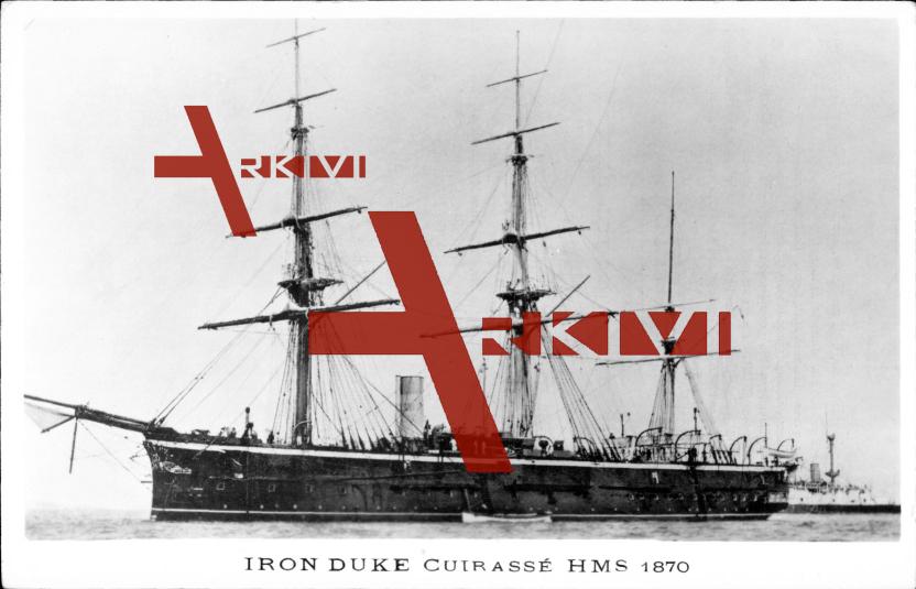 Britisches Kriegsschiff, HMS Iron Duke, Cuirassé, 1870