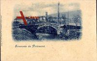 Delémont Delsberg Kanton Jura, vue générale de la ville, le pont