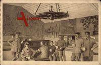 Deutsche Soldaten in der Kantine, Erster Weltkrieg
