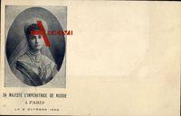 Zarin Alexandra Fjodorowna von Russland, Alix von Hessen Darmstadt,Paris 1896