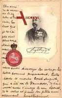 Passepartout Ernst August von Hannover, Portrait, Nec Aspera Terrent