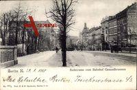 Berlin Wedding, Badstraße vom Bahnhof Gesundbrunnen, Häuserfassaden