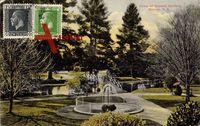 Nelson Neuseeland, Blick auf Queens Gardens, Springbrunnen