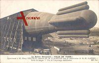 Le Ballon Dirigéable Ville de paris, M. Henry Deutsch, E. Surcouf, Zeppelin