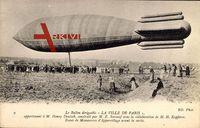 Le Ballon dirigéable La Ville de paris, M. Henry Deutsch, E. Surcouf,Zeppelin