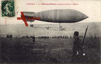 Verdun, Le Ville de paris au dessus du Parc à Ballon, Zeppelin