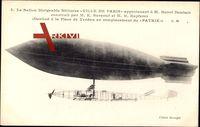 Ballon dirigéable Militaire, Ville de Paris, Henri Deutsch, Zeppelin