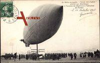 Ballon dirigéable Ville de Paris, Moulineaux, Zeppelin, Aéroplane Farman