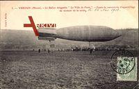 Verdun Meuse, Ballon dirigéable Ville de Paris, Zeppelin